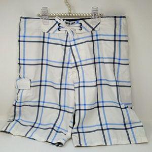 NWT Old Navy White & Blue Board Shorts Size Medium